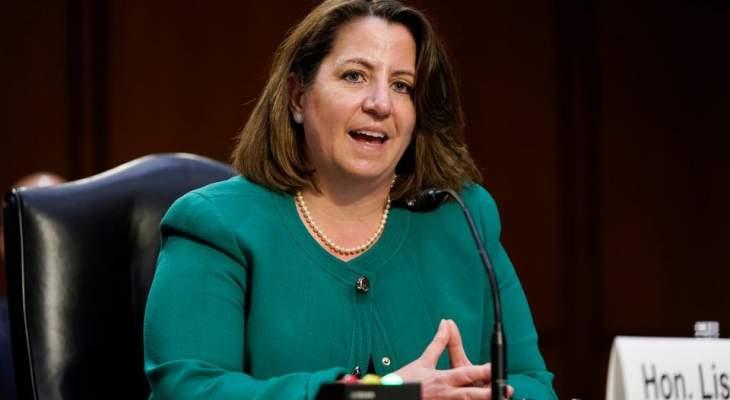 مجلس الشيوخ الأميركي أقر تعيين ليزا موناكو نائبة لوزير العدل