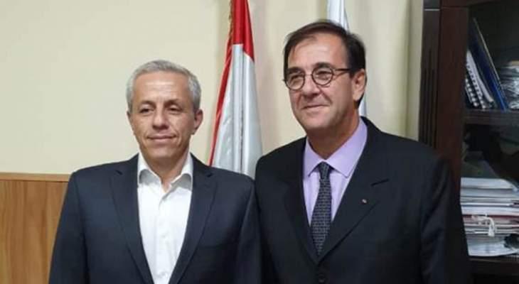 فوشيه التقى محافظ عكار: لم آت لمتابعة الوضع السياسي بل لمعرفة الوضع الاقتصادي