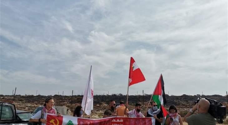 اعتصام للحزب الشيوعي في الناقورة احتجاجًا على مفاوضات الترسيم