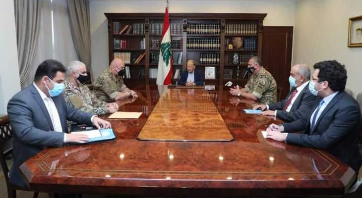 الجمهورية: الوفد اللبناني بمفاوضات الترسيم قدم لعون تصوراته حول دوافع اسرائيل للتنقيب