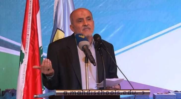 جشي: نتمسك بخيار المقاومة الذي يمنع اسرائيل من الاعتداء على ارضنا