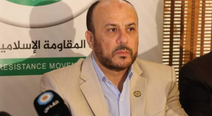 عبد الهادي: الرئيس الفلسطيني يمثل الجميع وموقفنا كحماس هو موقف عباس