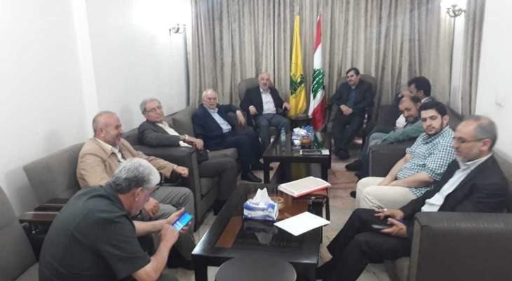 حب الله يلتقي وفد هيئة شورى جائزة فلسطين الدولية الايرانية