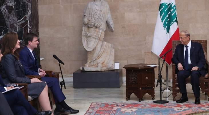 هيل بعد لقاء عون: سنتعاون مع السلطات اللبنانية والحلفاء في المنطقة لمساعدة لبنان وشعبه
