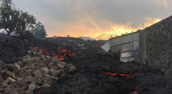السلطات الكونغولية تأمر باخلاء جزء من مدينة غوما بسبب بركان نياراغونغو