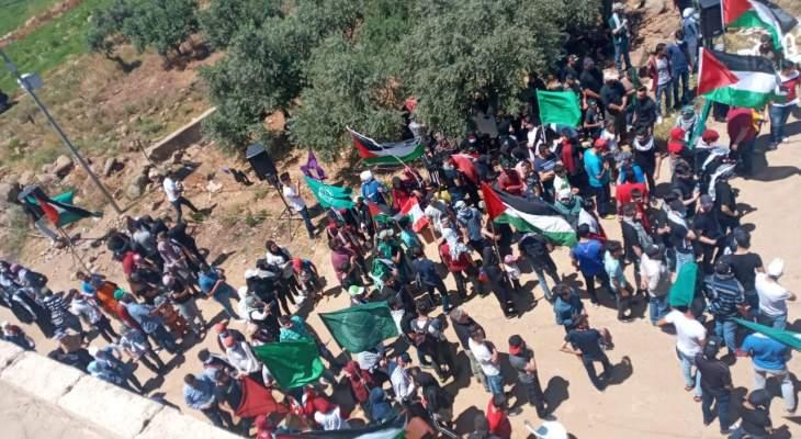الجماعة الإسلامية وهيئة العلماء المسلمين نظمتا وقفة تضامن مع فلسطين بالعباسية الحدودية
