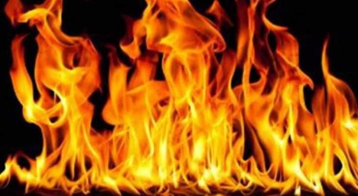 حريق في بلدة باريش قضى على محصول القمح