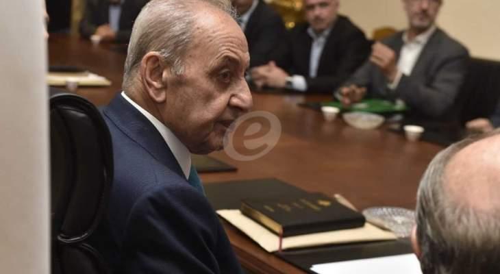 زوار عين التينة للنشرة: جلسات الثقة في مجلس النواب قد تمتد للجمعة