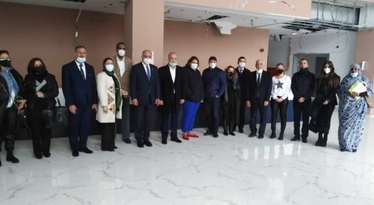 برلمانيون عرب تفقدوا مستشفى الكرنتينا واطلعوا على اضراره نتيجة انفجار المرفأ