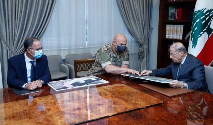الرئيس عون اطّلع من قائد الجيش على المراحل التي قطعتها عمليات رفع الأنقاض وانتشال الضحايا بمرفأ بيروت
