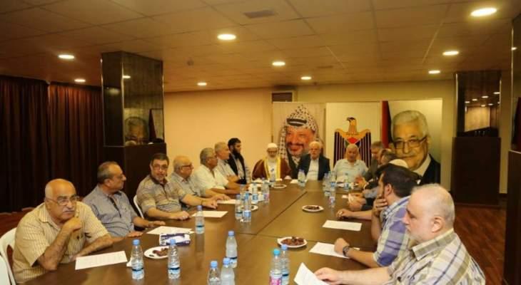 القيادة السياسية الفلسطينية اكدت دعمها للقوة المشتركة