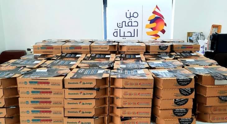 """جمعية """"من حقّي الحياة"""" قدمت وجبات إفطار لجمعية المبرات الاسلامية بجبيل"""