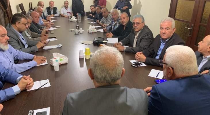 الوزير قماطي التقى قادة فصائل هيئة العمل الفلسطيني المشترك