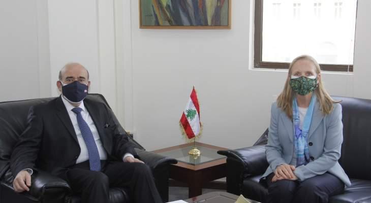 وهبه بحث مع سفراء كندا واليونان والمغرب العلاقات الثنائية وملف المساعدات