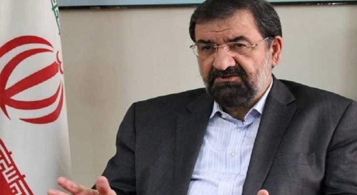 رضائي: أقل رد على اغتيال زاده هو وقف التنفيذ الطوعي للبروتوكول الإضافي للاتفاق النووي
