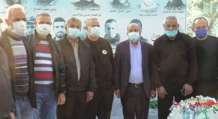 جشي افتتح ضريحين رمزيين لسليماني والمهندس:دمهم سيقلع وجود أميركا من المنطقة