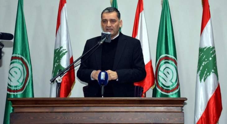 الفوعاني: وحدتنا الداخلية تشكل صمام الأمان أمام كل المشاريع التي يواجهها لبنان