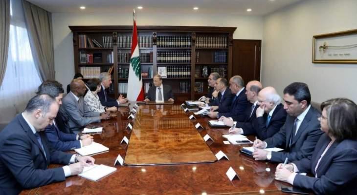 الرئيس عون: لتواكب مفوضية اللاجئين لبنان في تسهيل عودة النازحين وتسريعها
