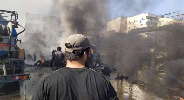 المرصد السوري: مقتل 14 شخصا في انفجار سيارة مفخخة في مدينة الباب