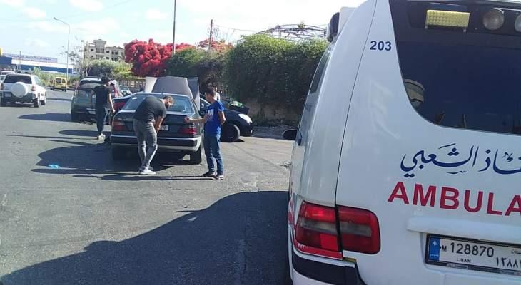 النشرة: جريحان نتيجة حادث سير بين سيارتين قرب مهنية صيدا