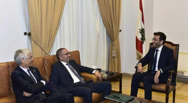 شبيب التقى وفدا جزائريا وبحث معه سبل تطوير التعاون