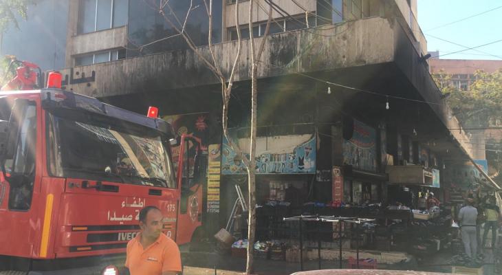 النشرة: اندلاع حريق كبير في معرض حبلي في صيدا