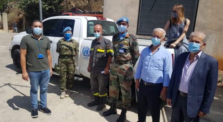 سيارة بيك آب هبة من قيادة اليونيفيل لمركز الدفاع المدني في راشيا