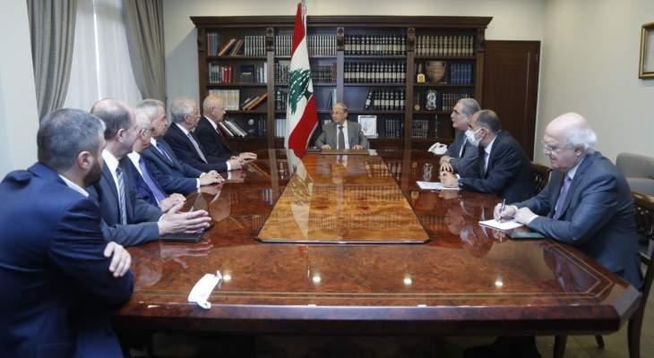 الرئيس عون شدد على اهمية تنفيذ مشروع نفق بيروت - البقاع: للاسراع في صيانة طريق ضهر البيدر