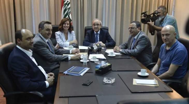 سرحان التقى بستاني: اتفاق على تفعيل حملة ازالة التعديات على شبكة الكهرباء