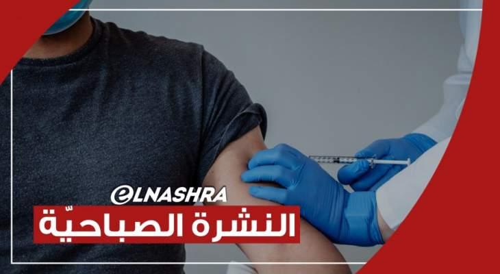 """النشرة الصباحية: نحو 50 ألف شخص تم تلقيحهم في لبنان حتى الآن و""""بيونتيك"""" تشيد بفعالية اللقاح"""