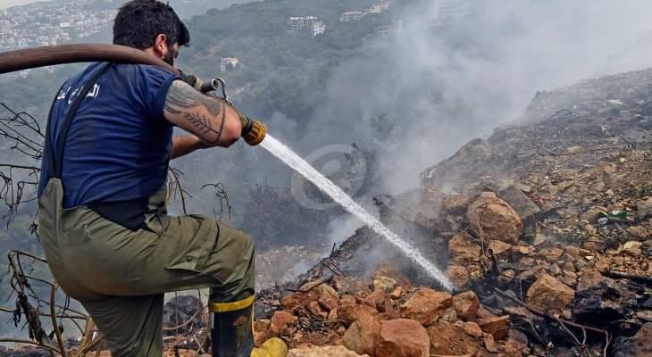 تجدد الحريق في احراج مزرعة الضهر والدفاع المدني يعمل على اخماده