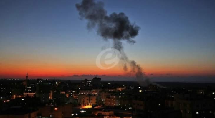 غارات إسرائيلية على غزة ردّاً على إطلاق صاروخين من القطاع