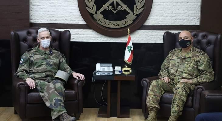 قائد الجيش وقع مع نظيره الفرنسي مذكرة تفاهم لتطوير قدرات الجيش اللبناني