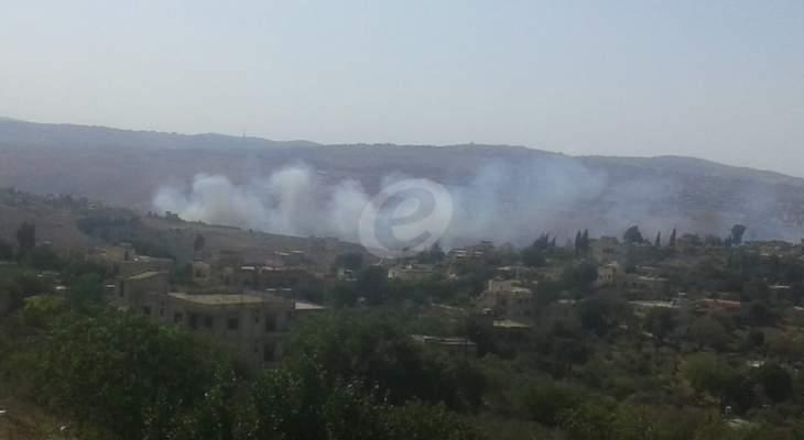 النشرة: اهالي حولا يناشدون للمساعدة على اخماد الحريق في المنطقة