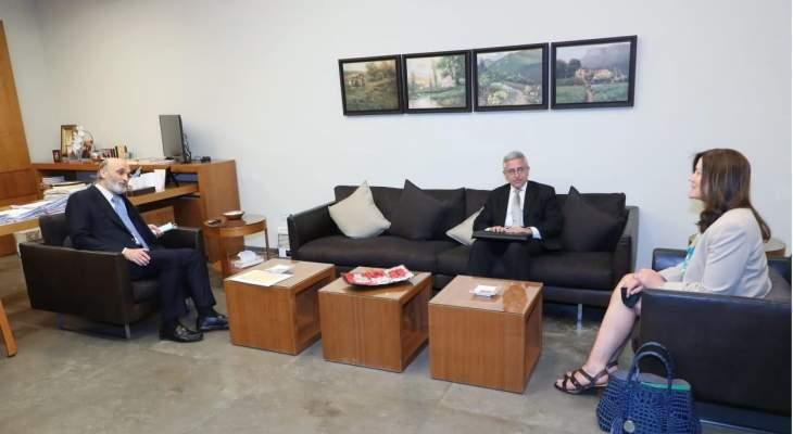 جعجع التقى شيا ولينش وبحثوا في آخر التطورات السياسية في لبنان والمنطقة