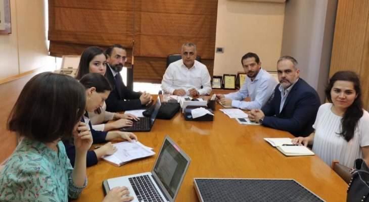 كركي التقى وفد منظمة العمل الدولية لتعميم الضمان الصحي على جميع اللبنانيين