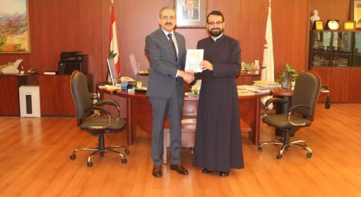 المونسنيور طرابلسي زار رئيس اللبنانية موفدا من المطران قصارجي