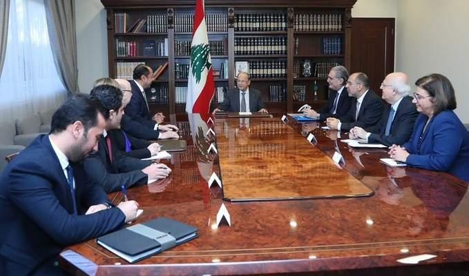 زكي نقل للرئيس عون رسالة دعم من الجامعة العربية واستعداد للمساعدة في حل الأزمة اللبنانية