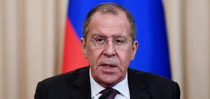 لافروف: روسيا تدعو لتجنب التحركات المستعجلة في خليج عمان