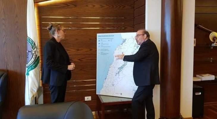 الصراف التقى السفير الإيراني ومنسقة الأمم المتحدة