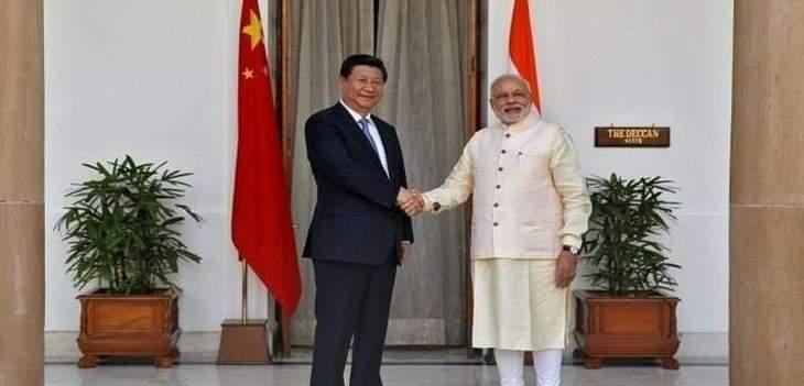 الرئيس الصيني ورئيس الوزراء الهندي يتفقان على خفض التوتر الحدودي