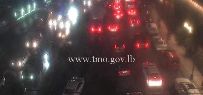 حركة المرور كثيفة على الروشة عين المريسة بيروت بالاتجاهين