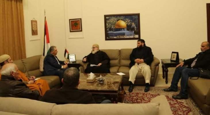 دبور التقى وفدا من القوى الاسلامية في مخيم عين الحلوة