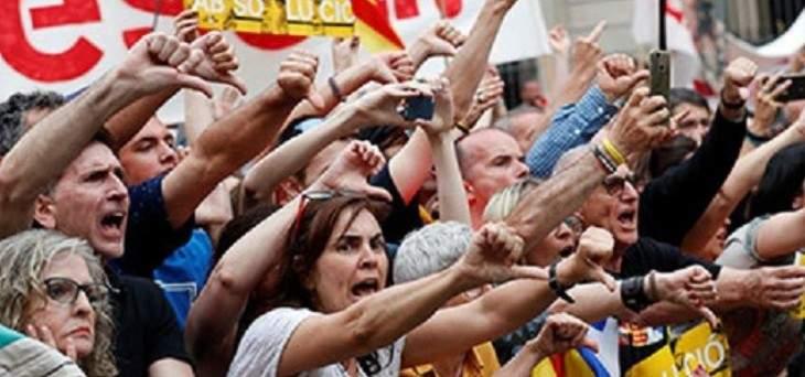 احتجاجات في برشلونة ضد تنصيب آدا كولو عمدة لكتالونيا