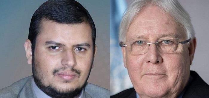 الحوثي يبحث مع المبعوث الأممي اتفاق السويد