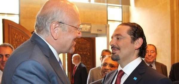 الحريري بعد لقائه ميقاتي: التوافق والعمل سويا هو الذي يجعل لبنان اقوى
