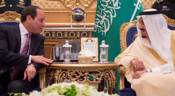 الملك سلمان تلقى اتصالا هاتفيا من السيسي هنأه خلاله بعيد الفطر