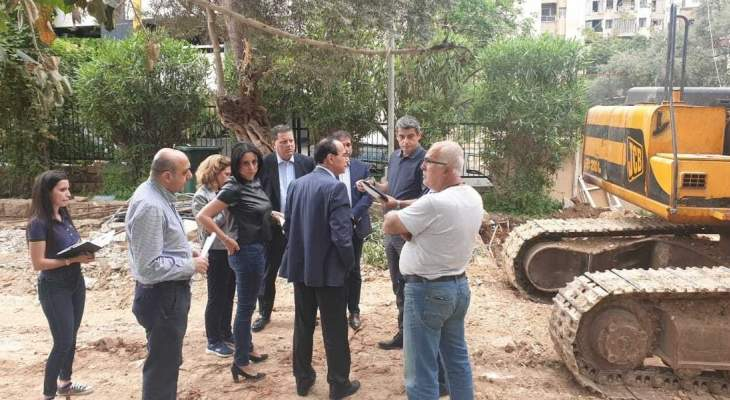 بلدية بيروت باشرت أعمال إعادة تأهيل حديقة السيوفي
