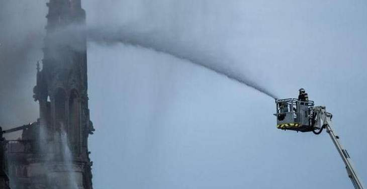 جهاز الإطفاء في باريس يعلن إخماد الحريق في كاتدرائية نوتردام