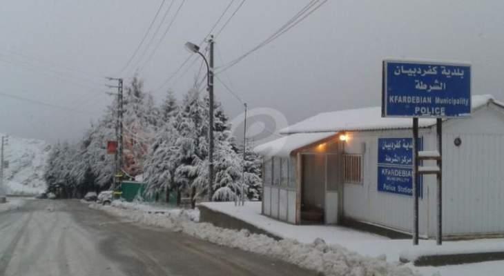 قوى الأمن: الطريق إلى مراكز التزلّج في كفردبيان سالكة لسيارات الدفع الرباعي